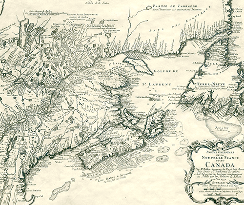 French map of Canada 1755